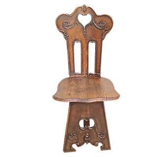 Antique Welsh Hall Chair For Sale