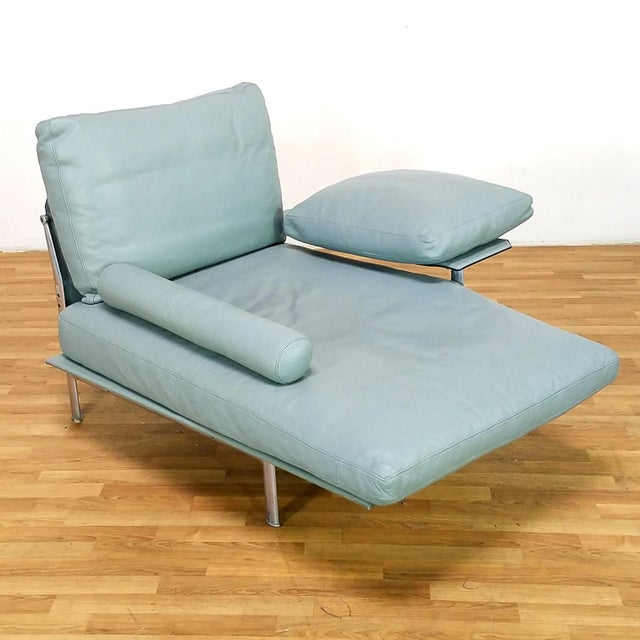 Turquoise Paolo Nava for B&B Italia Diesis Beige Leather Chaise For Sale - Image 8 of 13