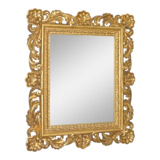Baroque 18th to 19th Century Monumental Hand Carved & Gilded Mirror For Sale