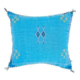 Vintage Turquoise Sarrah Kilim Pillow