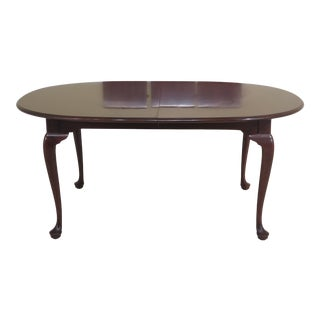 Traditional Stickley Oval Solid Cherry Dining Room Table For Sale