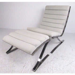 Design Institute of America Modern Lounge Chair With Ottoman - A Pair Preview