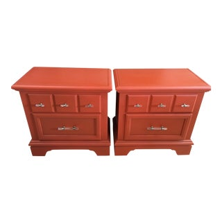Bassett All Wood Nightstands/Side Tables - a Pair