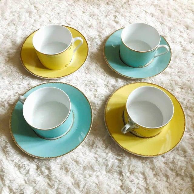 """Christian Lacroix Christian LaCroix Paris """"Follement"""" Coffee Tea Set, France - Set of 4 For Sale - Image 4 of 13"""