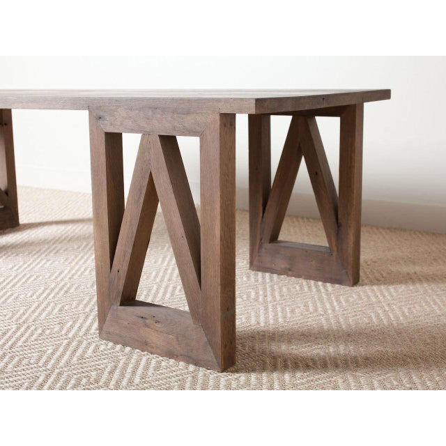 Contemporary Contemporary Rectangular Oak V Dining Table For Sale - Image 3 of 5