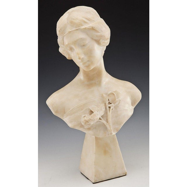 Roman Neoclassical Carved Marble Bust - Image 2 of 7