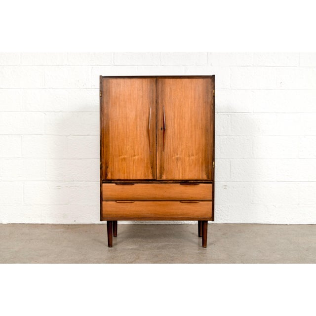 Mid Century Danish Modern Rosewood Bar Cabinet For Sale - Image 11 of 11