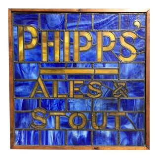 Phipps Ale & Stout Stain Glass Window