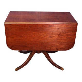 Antique Drop Leaf Table with Lion Pull