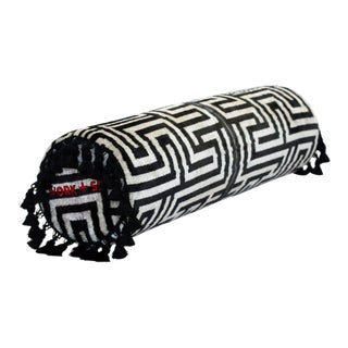 Black and White Bolster Pillow For Sale
