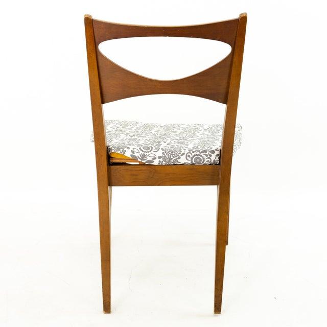 Wood John Van Koert for Drexel Profile Mid Century Walnut Dining Chairs - Set of 4 For Sale - Image 7 of 13