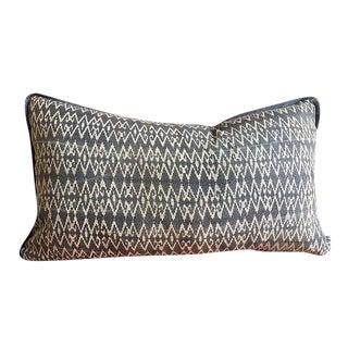 Indigo Batik Hmong Textile Pillow For Sale