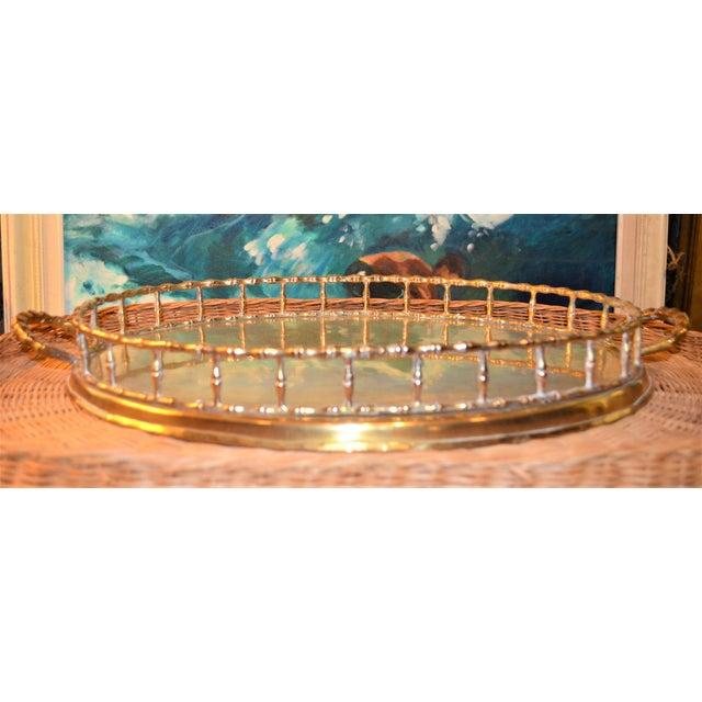 Hollywood Regency Brass Bamboo Tray - Image 4 of 6