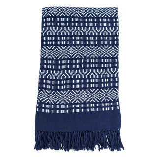 Mexican Navy Blue Blanket For Sale