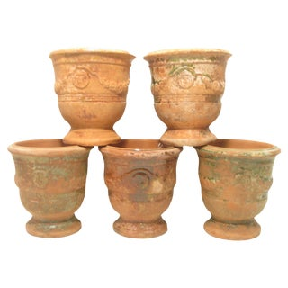 Vintage French Anduze Pottery Urns - Set of 5 For Sale