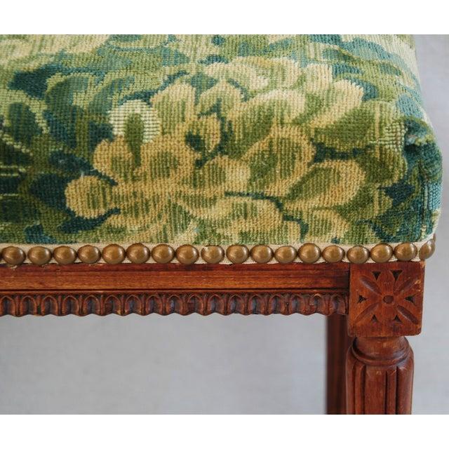 Italian Scalamandre Marly Fabric Bench - Image 9 of 11