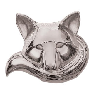 Polished Nickel Fox Door Knocker