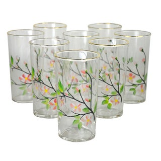 Vintage Hand-Painted Cocktail Glasses - 8 For Sale