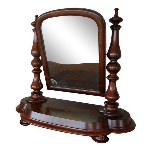 Antique Empire Period Mahogany Dressing Mirror For Sale