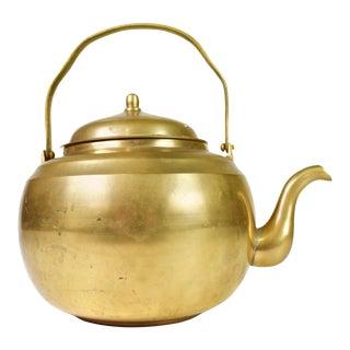 Mid 20th Century Unique Brass Tea Kettle For Sale