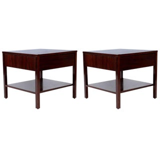 Rare Florence Knoll Rosewood Pair of Nightstands, 1950s For Sale