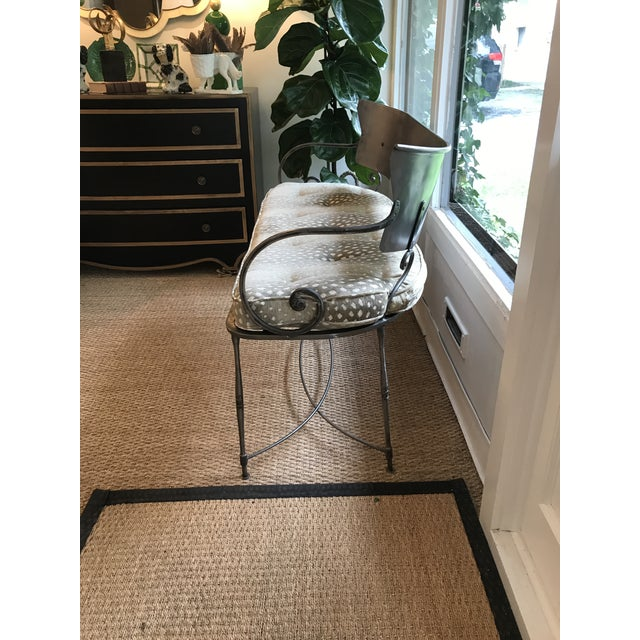 Traditional Metal Indoor/Outdoor Bench For Sale In Washington DC - Image 6 of 7