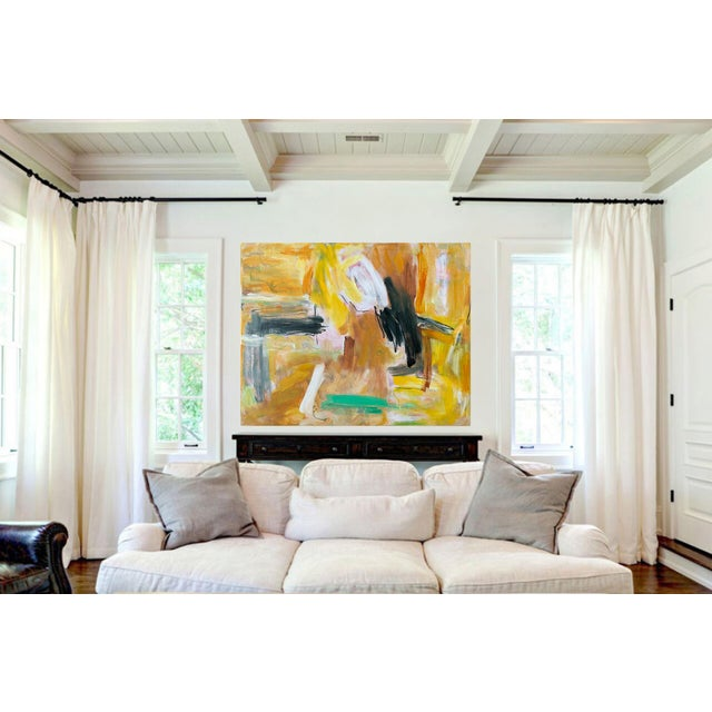 """""""Eagle's Nest"""" by Trixie Pitts XL Painterly Abstract Expressionist Oil Painting For Sale - Image 12 of 13"""