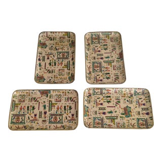Vintage Decoupage Trays - Set of 4 For Sale