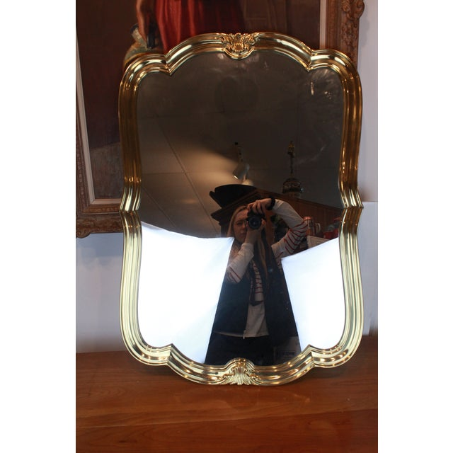 Italian Brass Wall Mirror For Sale - Image 4 of 13