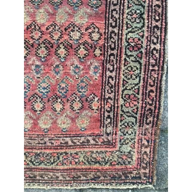 "Antique Hamadan Rug - 3'4"" X 6'6"" - Image 6 of 9"