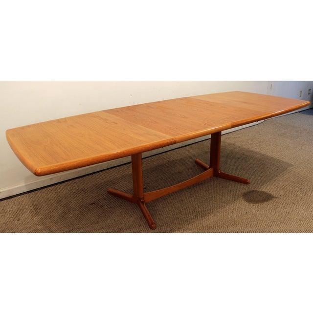 Laurits M. Larsen Mid-Century Danish Modern Extendable Teak Dining Table - Image 6 of 10