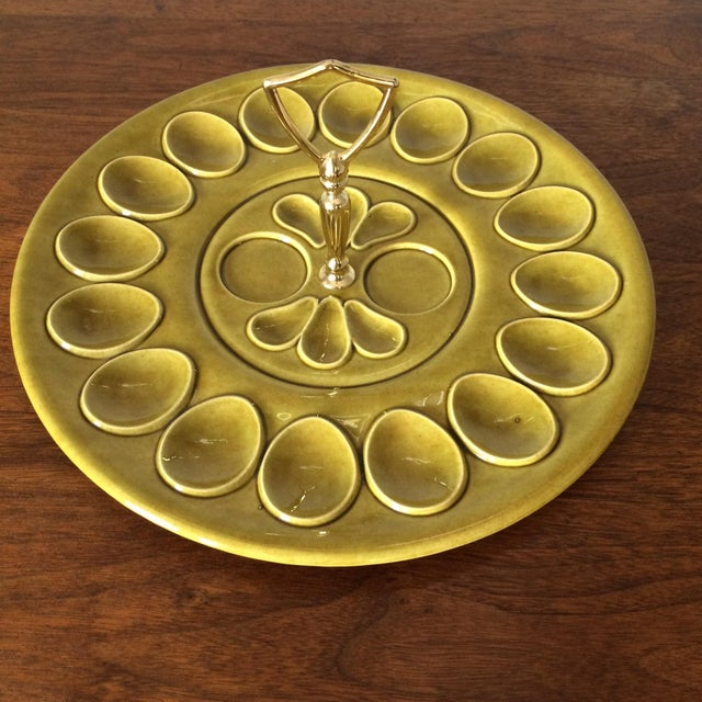 Mid-Century Pale Green Egg Dish - Image 7 of 9