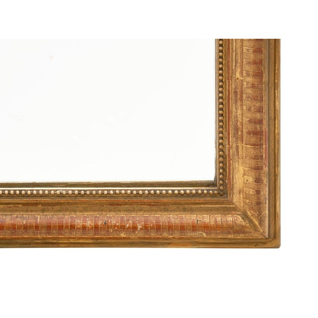 Louis Philippe Period Gold Leaf Mirror For Sale In Austin - Image 6 of 10