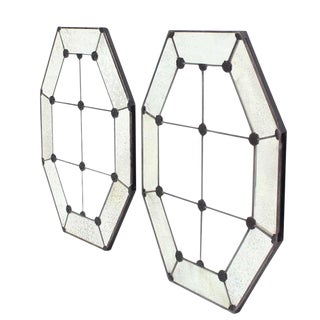 Pair of Large Octagon Wall Mirrors For Sale