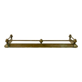 Antique Brass Rail Fireplace Fender For Sale