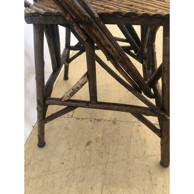 Wood Antique Rustic Adirondack Twig Chair For Sale - Image 7 of 13