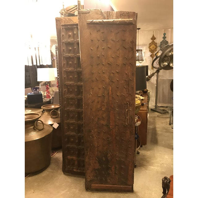 Arts & Crafts Original Antique Salvaged Hand-Made Indian Doors For Sale - Image 3 of 11