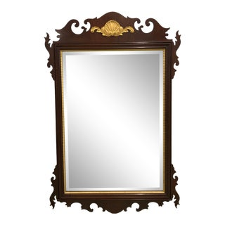 1990's Vintage Councill Craftsmen Chippendale Style Mahogany Mirror For Sale