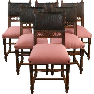 Antique Dining Chairs French Renaissance - Set of 6 For Sale