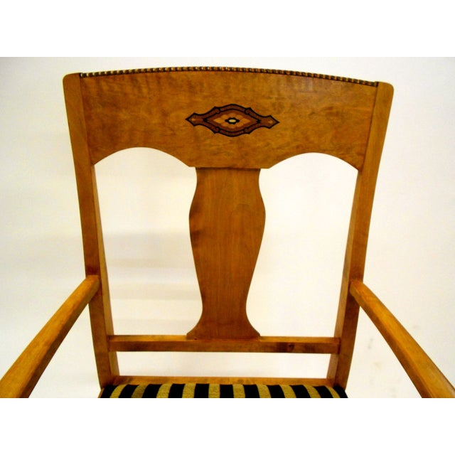 Swedish Jugendstil Birch Armchairs - A Pair - Image 7 of 8