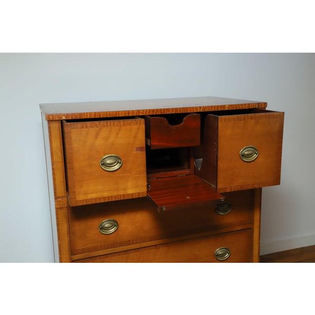 1930s W. J. Sloane Company Satinwood Bureau For Sale - Image 4 of 12