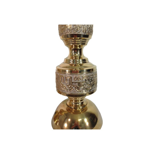 James Mont James Mont Solid Brass Lamps - Pair For Sale - Image 4 of 6