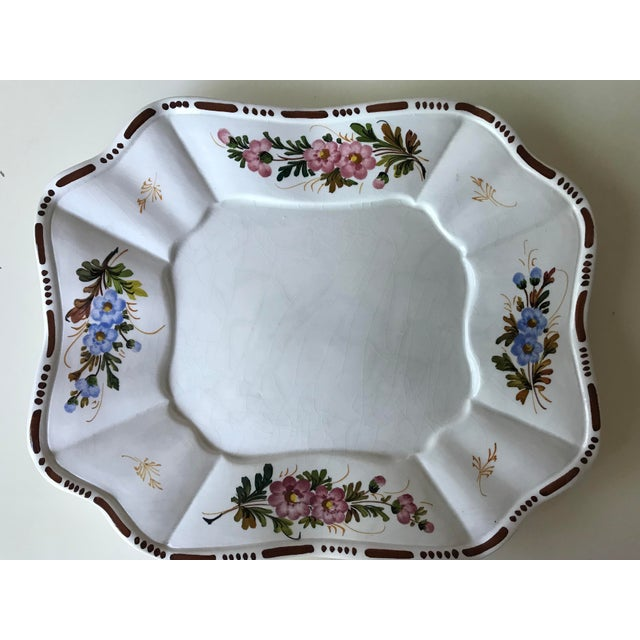 Petite Floral Porcelain Soup Tureen & Tray For Sale - Image 10 of 13