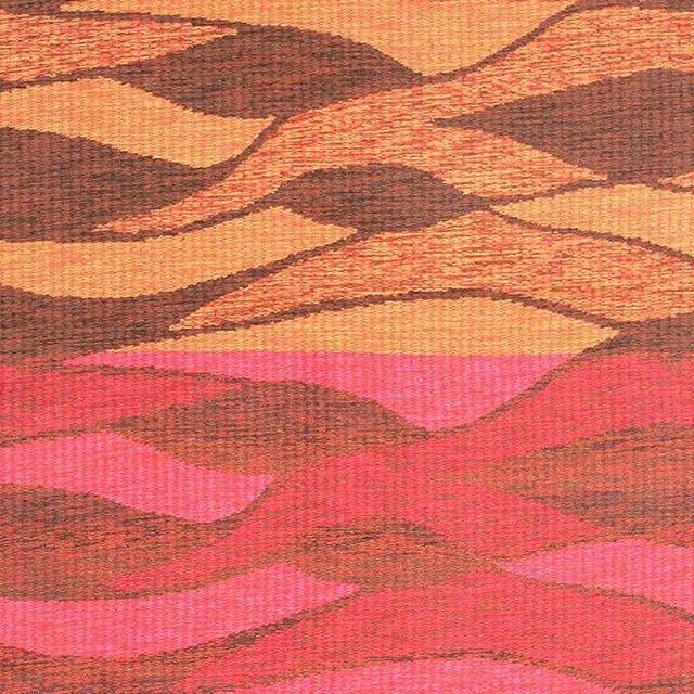 Vintage Double-Sided Swedish Kilim Carpet For Sale - Image 4 of 10