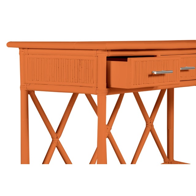 Not Yet Made - Made To Order Aruba Sideboard - Orange For Sale - Image 5 of 6