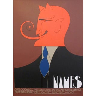 1980s Original Canadian Poster - Names by Theo Dimson For Sale