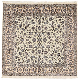 "Pasargad Persian Nain Silk & Wool Rug - 8'2"" X 8'4"" For Sale"