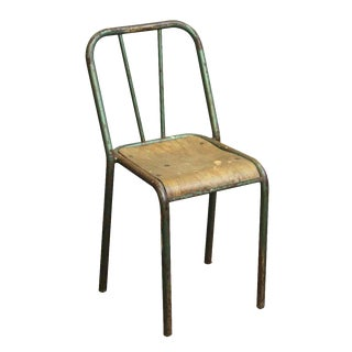 Reclaimed French Distressed Green School Chair