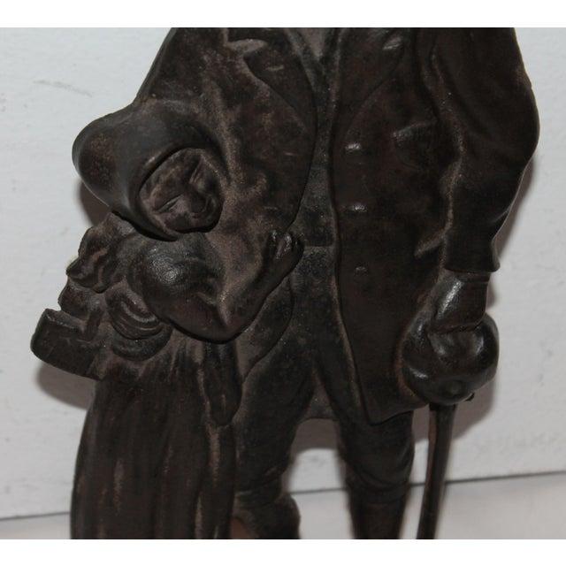 Benjamin Franklin Cast Iron Door Stop For Sale - Image 5 of 7