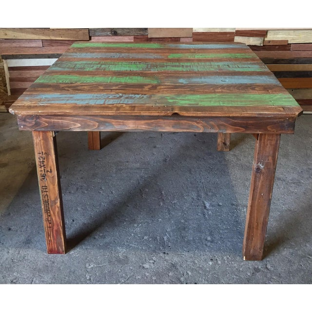 Rustic Dining Table With a Splash of Color - Image 2 of 3